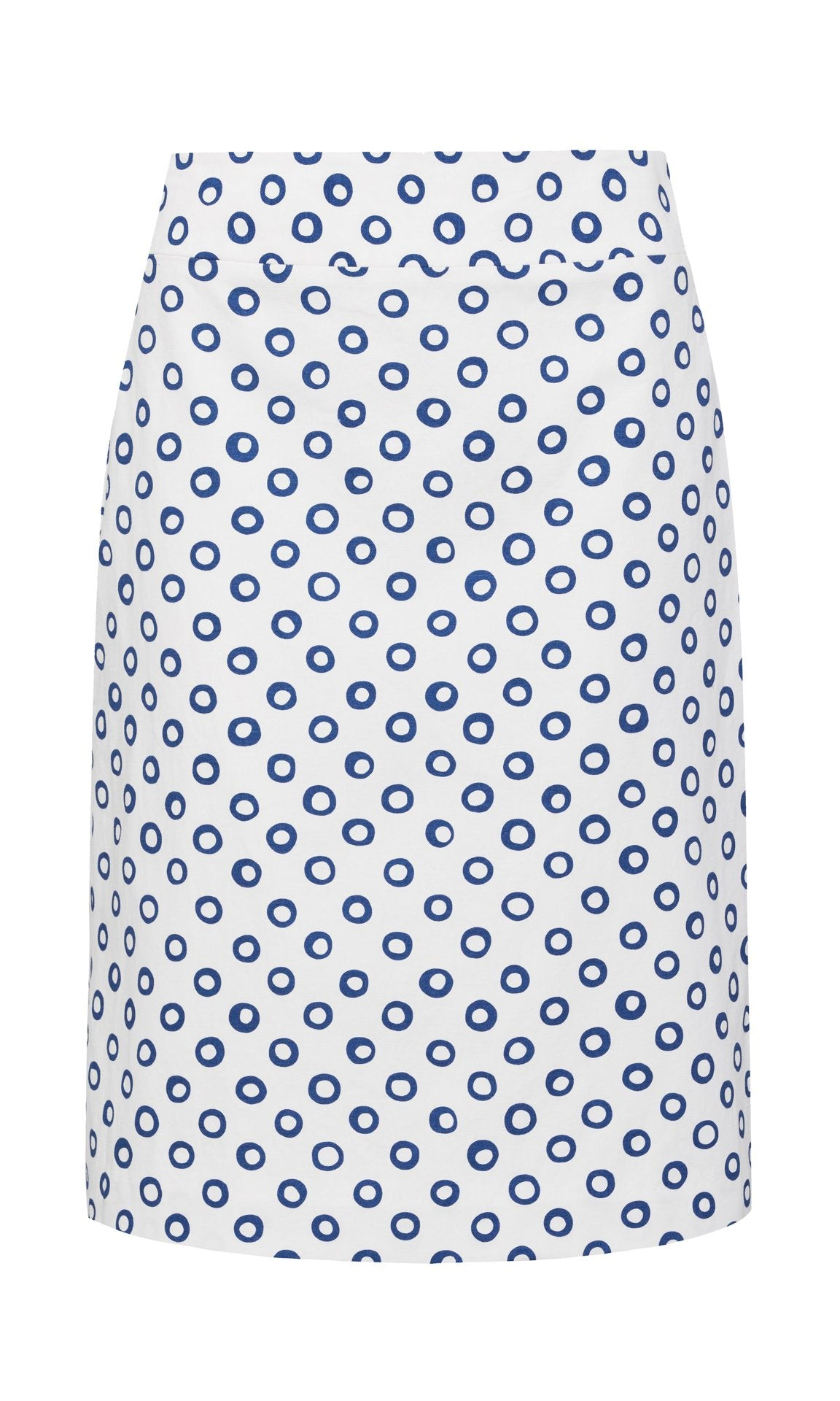 Shirley Skirt - White/Blue