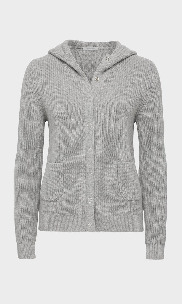 Weston Hooded Cardigan - Steel