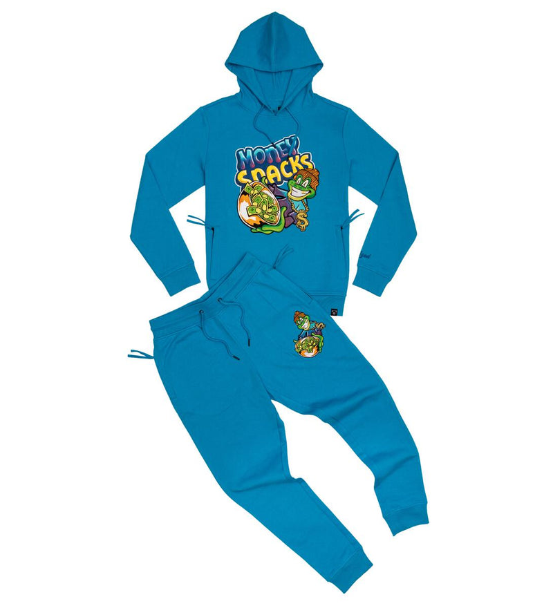 Civilized - Money Snacks Hoodie & Jogger Set Royal Teal Blue