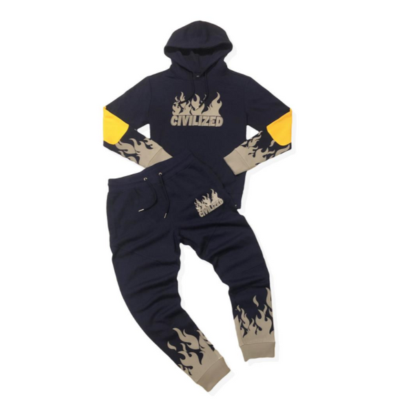3M REFLECTIVE FLAMES SET - Navy Blue