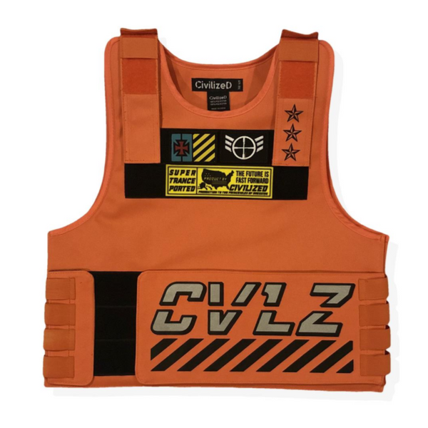 UTILITY VEST W/ 3M REFLECTIVE TAPING - Orange