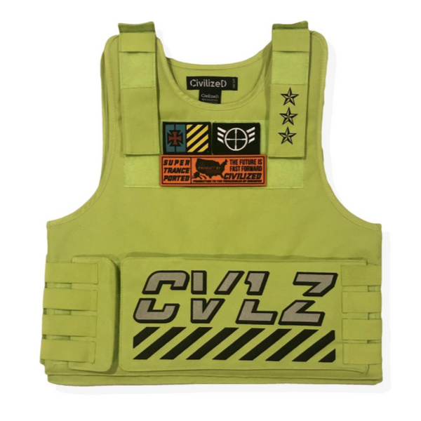 UTILITY VEST W/ 3M REFLECTIVE TAPING - LIME