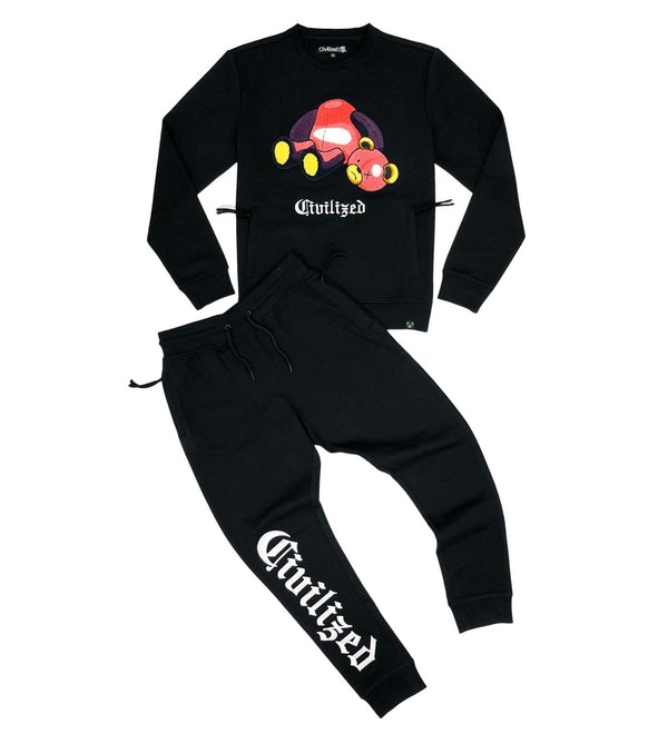 Civilized -  Bear Crewneck Jogger Set