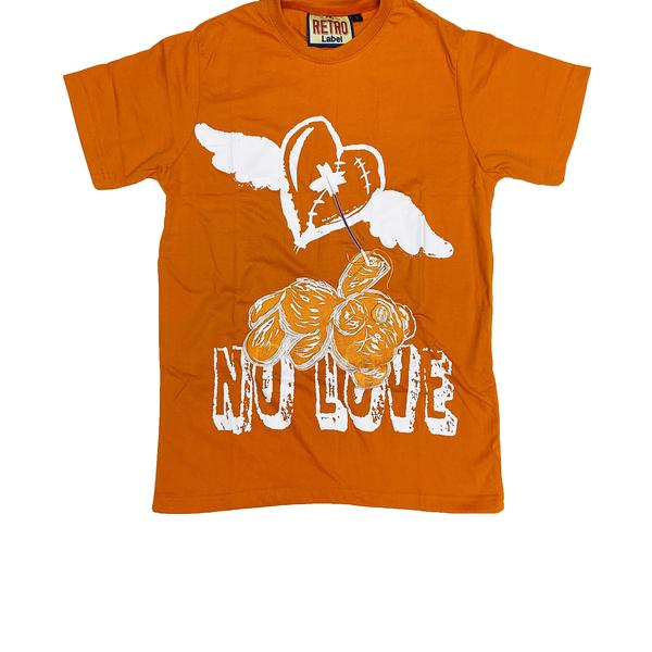 No Love Orange T-Shirt