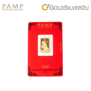 "Tomei x PAMP Suisse Yellow Gold 9999 (24K) ""Lunar Rat"" Wafer (PRA-R)"