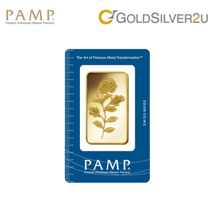 "[ONLINE EXCLUSIVE PRE ORDER] Tomei x PAMP Suisse Yellow Gold 9999 (24K) ""Rosa"" Wafer 50 Grams (PSR-R-50G)"
