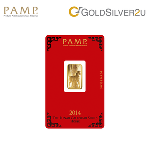"Tomei x PAMP Suisse Yellow Gold 9999 (24K) ""Lunar Horse"" Wafer (PSH-R)"