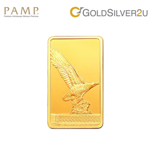 "Tomei x PAMP Suisse Yellow Gold 9999 (24K) ""Icons of Malaysia - Eagle Square"" Wafer 5 Grams (PTE-R-5G)"