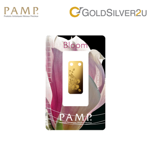 "[ONLINE EXCLUSIVE PRE ORDER] Tomei x PAMP Suisse Yellow Gold 9999 (24K) ""Bloom Series - Orchid"" Pendant 1/5 Oz. (PBO-R-1/5Z)"