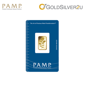 "[ONLINE EXCLUSIVE PRE ORDER] Tomei x PAMP Suisse Yellow Gold 9999 (24K) ""Rosa"" Wafer 5 Grams (PSR-R-5G)"