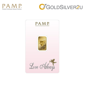"Tomei x PAMP Suisse Yellow Gold 9999 (24K) ""Love Always"" Wafer 5 Grams (LA-R-5G)"
