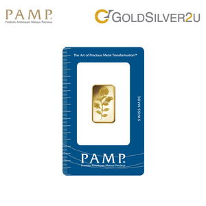 "[ONLINE EXCLUSIVE PRE ORDER] Tomei x PAMP Suisse Yellow Gold 9999 (24K) ""Rosa"" Wafer 10 Grams (PSR-R-10G)"
