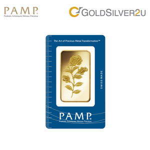 "[ONLINE EXCLUSIVE PRE ORDER] Tomei x PAMP Suisse Yellow Gold 9999 (24K) ""Rosa"" Wafer 100 Grams (PSR-R-100G)"