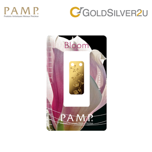 "[ONLINE EXCLUSIVE PRE ORDER] Tomei x PAMP Suisse Yellow Gold 9999 (24K) ""Bloom Series - Rose"" Pendant 1/5 Oz. (PBR-R-1/5Z)"