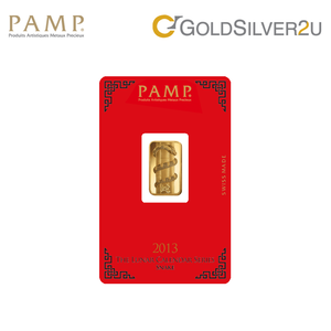 "Tomei x PAMP Suisse Yellow Gold 9999 (24K) ""Lunar Snake"" Wafer (PSN-R)"