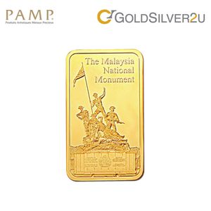 "Tomei x PAMP Suisse Yellow Gold 9999 (24K) ""Icons of Malaysia - National Monument"" Wafer 20 Grams (PTN-R-20G)"