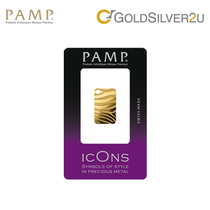 "[ONLINE EXCLUSIVE PRE ORDER] Tomei x PAMP Suisse Yellow Gold 9999 (24K) ""Icon Series - Zebra"" Pendant 5 Grams (PIZ-R-5G)"