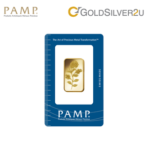 "[ONLINE EXCLUSIVE PRE ORDER] Tomei x PAMP Suisse Yellow Gold 9999 (24K) ""Rosa"" Wafer 20 Grams (PSR-R-20G)"