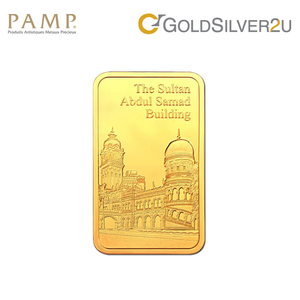 "Tomei x PAMP Suisse Yellow Gold 9999 (24K) ""Icons of Malaysia - Sultan Abdul Samad Building"" Wafer 50 Grams (PTS-R-50G)"