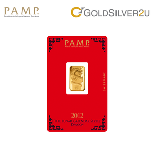 "Tomei x PAMP Suisse Yellow Gold 9999 (24K) ""Lunar Dragon"" Wafer (PSD-R)"