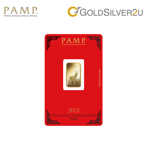 "Tomei x PAMP Suisse Yellow Gold 9999 (24K) ""Lunar Goat"" Wafer (PSG-R)"