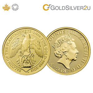 "[ONLINE EXCLUSIVE PRE ORDER] Tomei x Royal British Mint Yellow Gold 9999 (24K) ""2019 Great Britain Queen's Beasts - The Falcon Of The Plantagenets"" Coin 1/4 Oz. (BGB-1/4Z-19)"