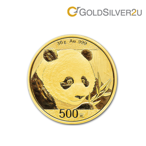 "Tomei x China Gold Coin Yellow Gold 999 (24K) ""2018 Panda"" Coin 30 Grams (PGC-30G)"