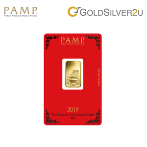"Tomei x PAMP Suisse Yellow Gold 9999 (24K) ""Lunar Pig"" Wafer (PPG-R)"