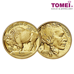 "Tomei x United States Mint Yellow Gold 9999 (24K) ""American Buffalo"" Coin 1 Oz. (BGC-1Z)"