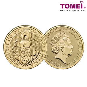 "[ONLINE EXCLUSIVE PRE ORDER] Tomei x Royal British Mint Yellow Gold 9999 (24K) ""Britain Queen's Beasts"" Coin 1 Oz. (BQS-1Z)"