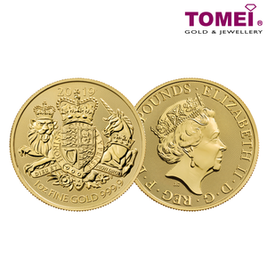 "[ONLINE EXCLUSIVE PRE ORDER] Tomei x Royal British Mint Yellow Gold 9999 (24K) ""2019 Great Britain The Royal Arms"" Coin 1 Oz. (BRA-1Z-19)"