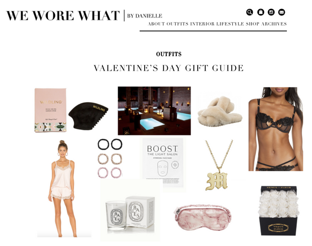 WE WORE WHAT: VALENTINE'S DAY GIFT GUIDE