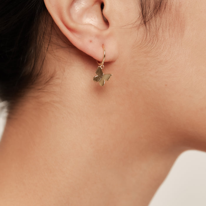 THE ESSENTIAL BUTTERFLY HUGGIE EARRINGS