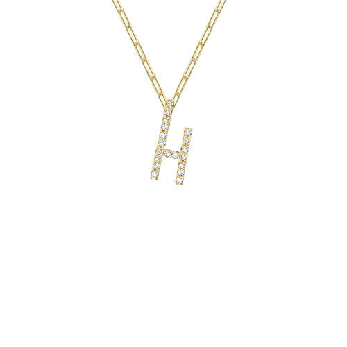 THE ICED OUT REDA LETTER NECKLACE