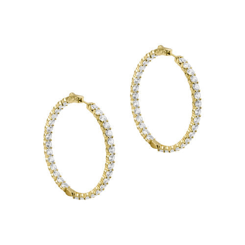 THE LARGE PAVE' 925 HOOPS