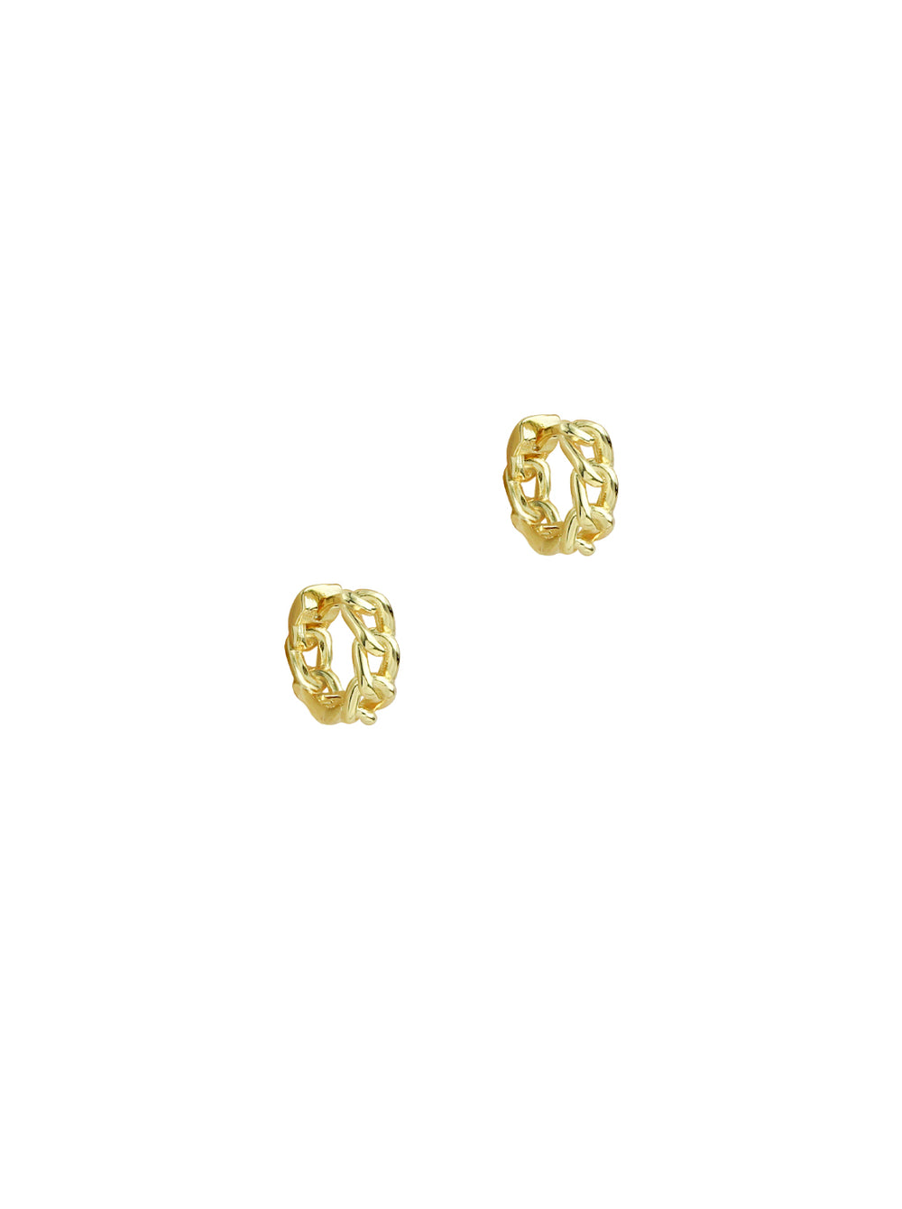 THE TINY CURB LINK HOOP EARRINGS