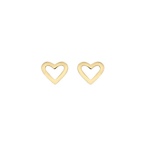 THE OPEN HEART STUD EARRINGS