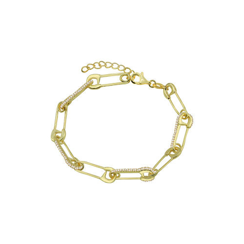 THE PAVE' SAFETY PIN BRACELET