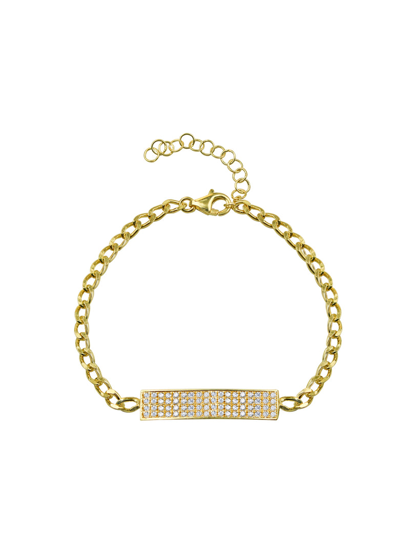 THE PAVE' BAR CURB LINK BRACELET