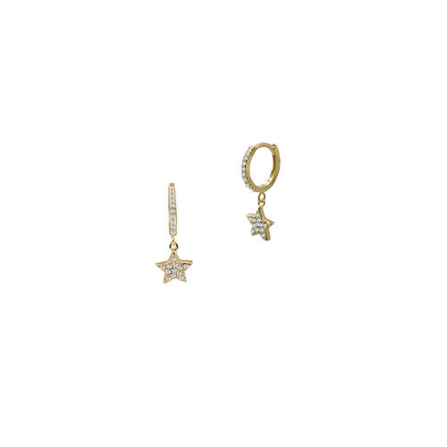 THE HANGING PAVE' STAR EARRING