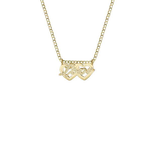 THE CLASSIC DOUBLE HEART LOVE PENDANT NECKLACE