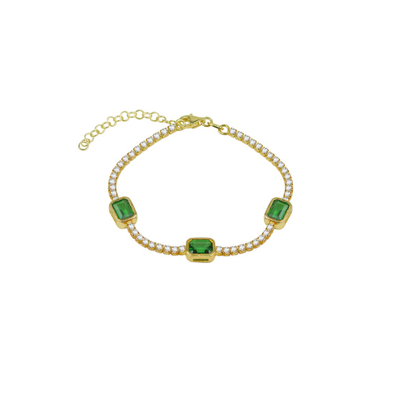 THE GREEN EMERALD TENNIS BRACELET (CHAPTER II BY GREG YÜNA X THE M JEWELERS)