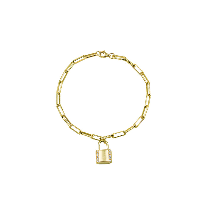 THE PAVE' LOCK REDA LINK BRACELET