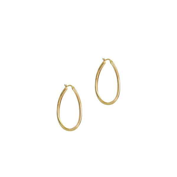 THE LARGE TEARDROP HOOP EARRINGS