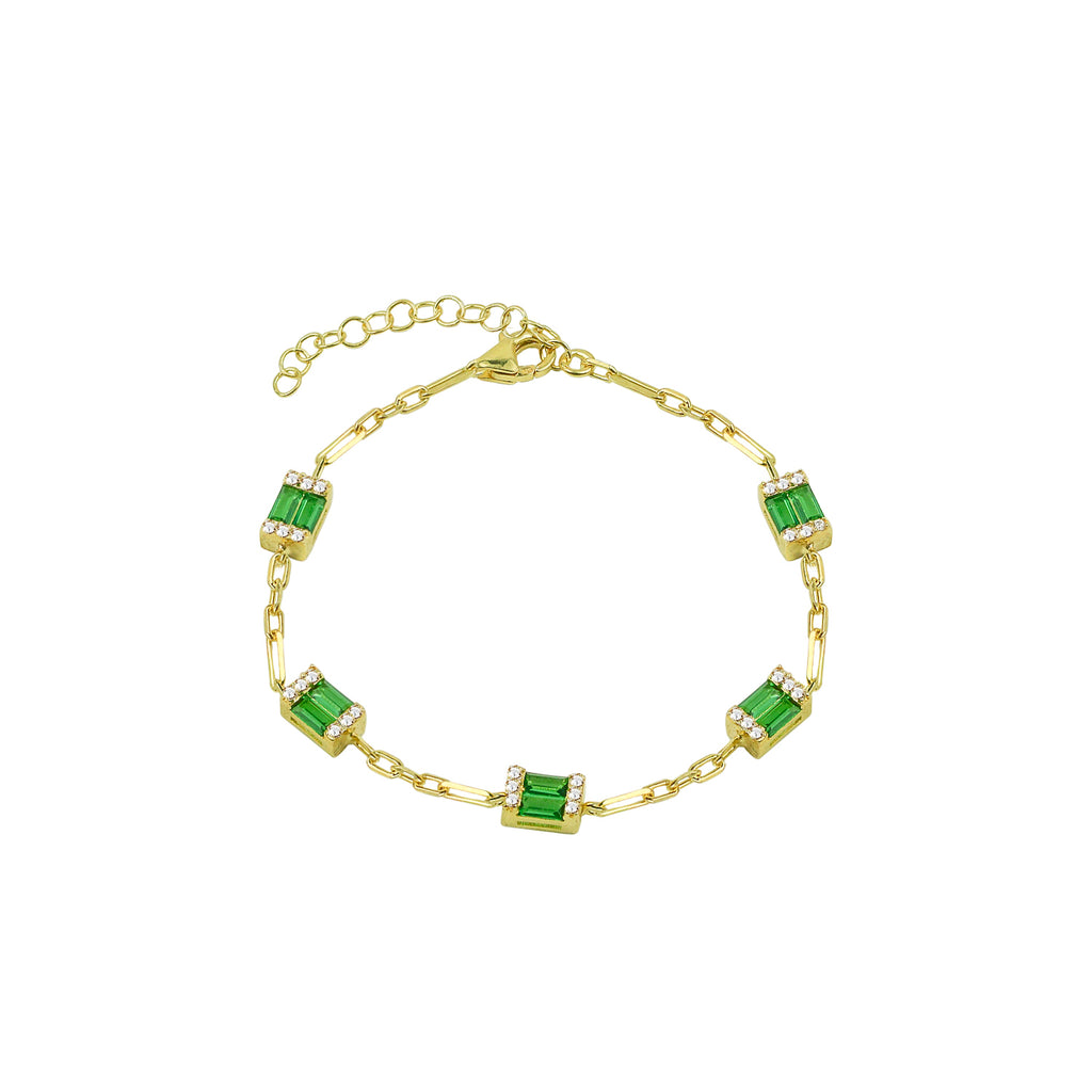THE GREEN EMERALD REDA LINK BRACELET (CHAPTER II BY GREG YÜNA X THE M JEWELERS)