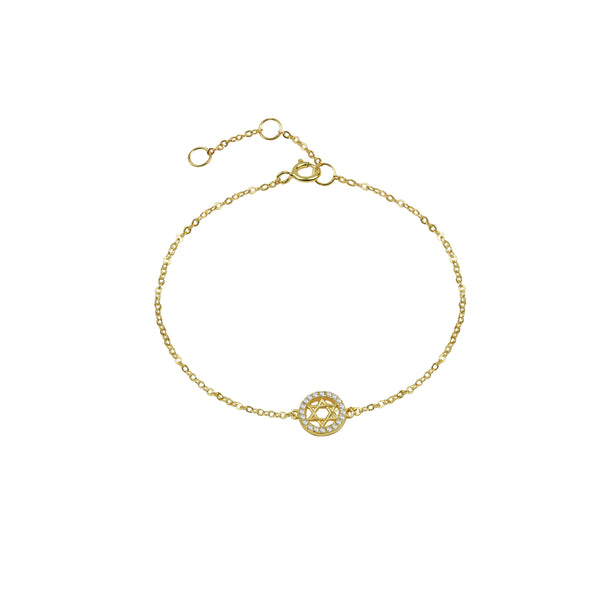 THE PAVE' STAR OF DAVID DISC BRACELET