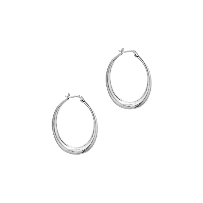 THE SMALL SILVER TALI HOOP EARRINGS