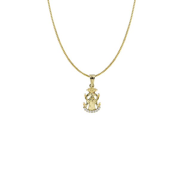 THE MARY SINGLE ROSE NECKLACE