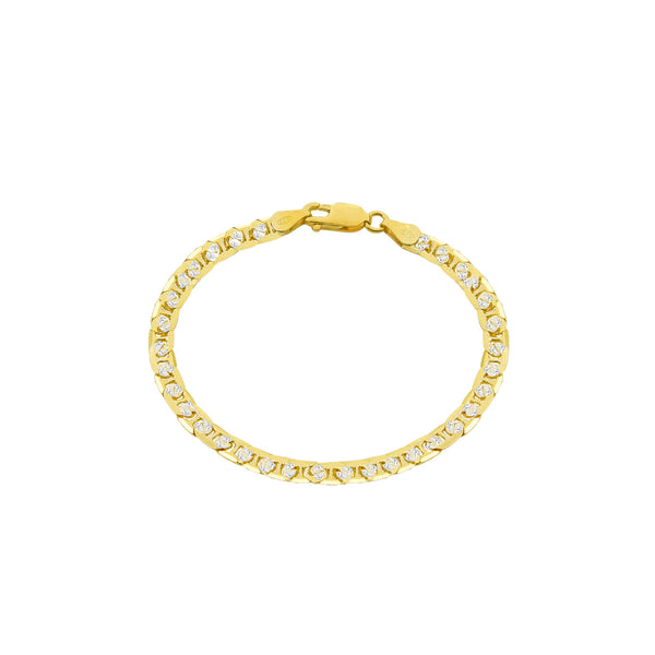 THE DIAMOND CUT LINK BRACELET