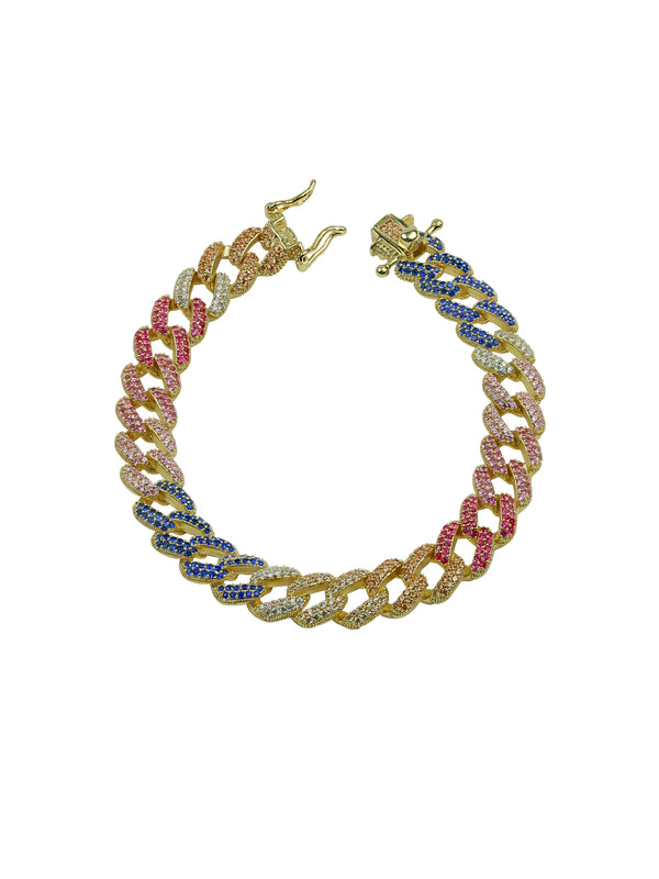 THE RAINBOW CUBAN LINK BRACELET (CHAPTER II BY GREG YÜNA X THE M JEWELERS)